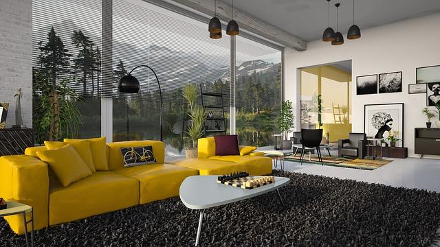 Moderný interiér alebo spájanie miestností je IN